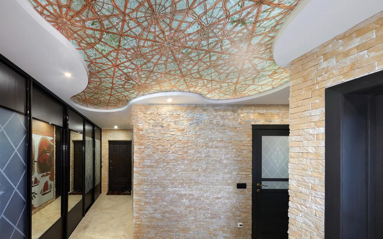 Двухуровневый натяжной потолок